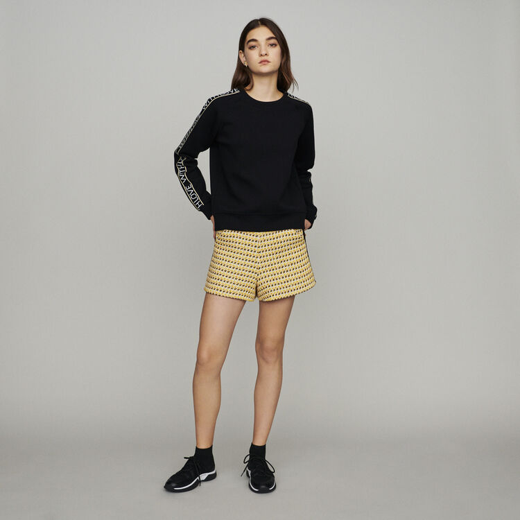 """Sweat """"With Love"""" on sleeves : Knitwear color Black 210"""