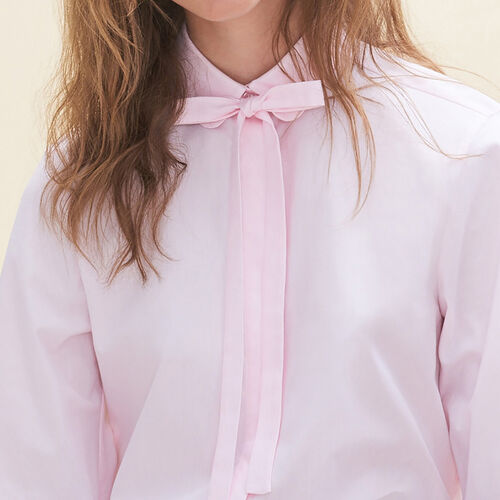 Loose-fitting poplin shirt : Shirts color Pink