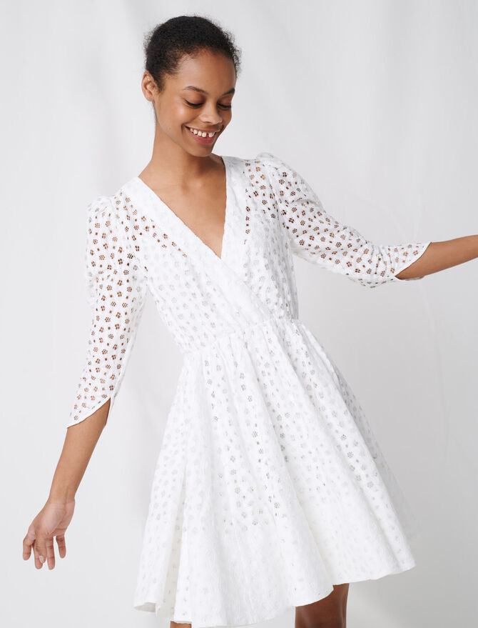 White lace dress -  - MAJE