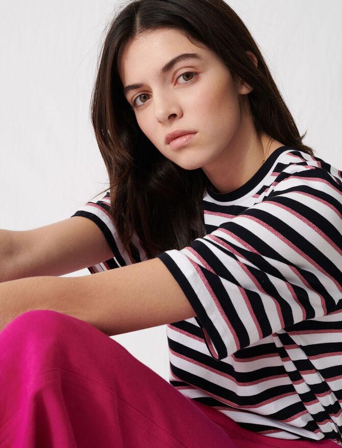 T-shirt with tricoloured stripes - Présoldes-Tout_voir-DE - MAJE