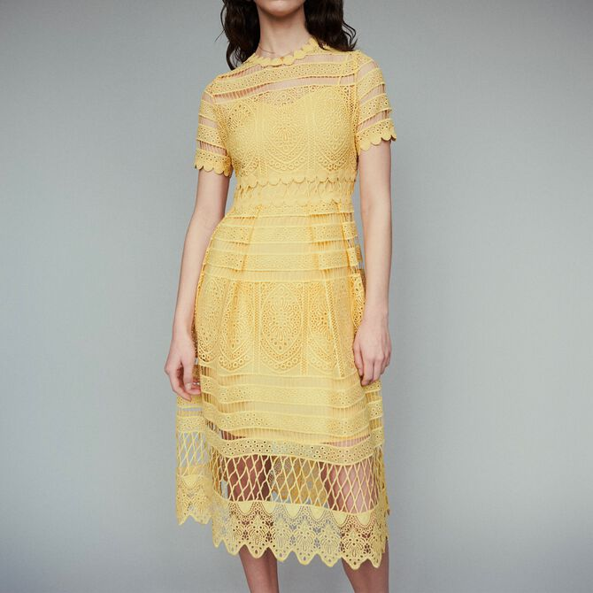 Long dress in guipure - See all - MAJE