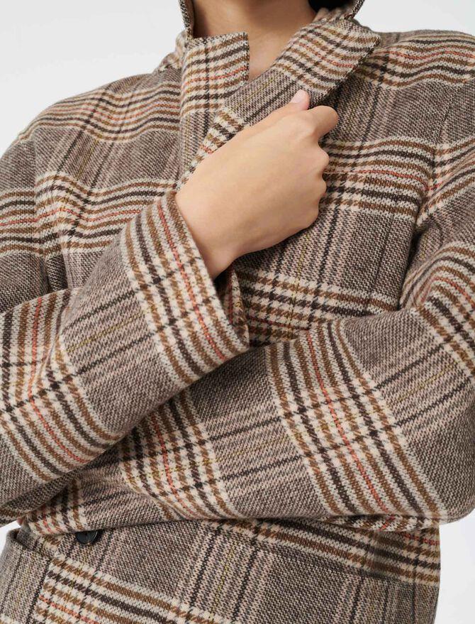 Checked jacket-style coat - Blazers - MAJE