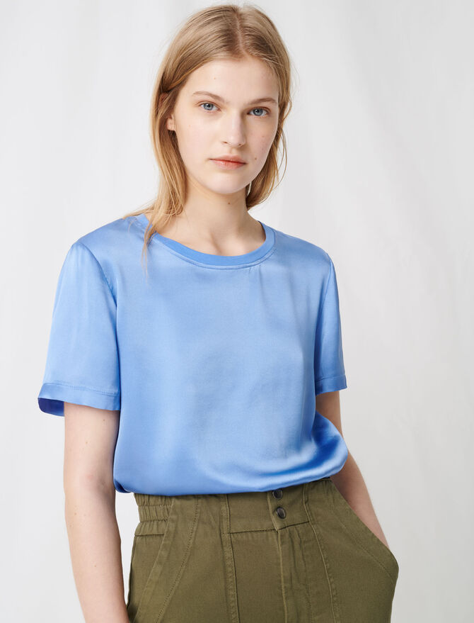 Material mix cotton and silk T-shirt - All the collection - MAJE