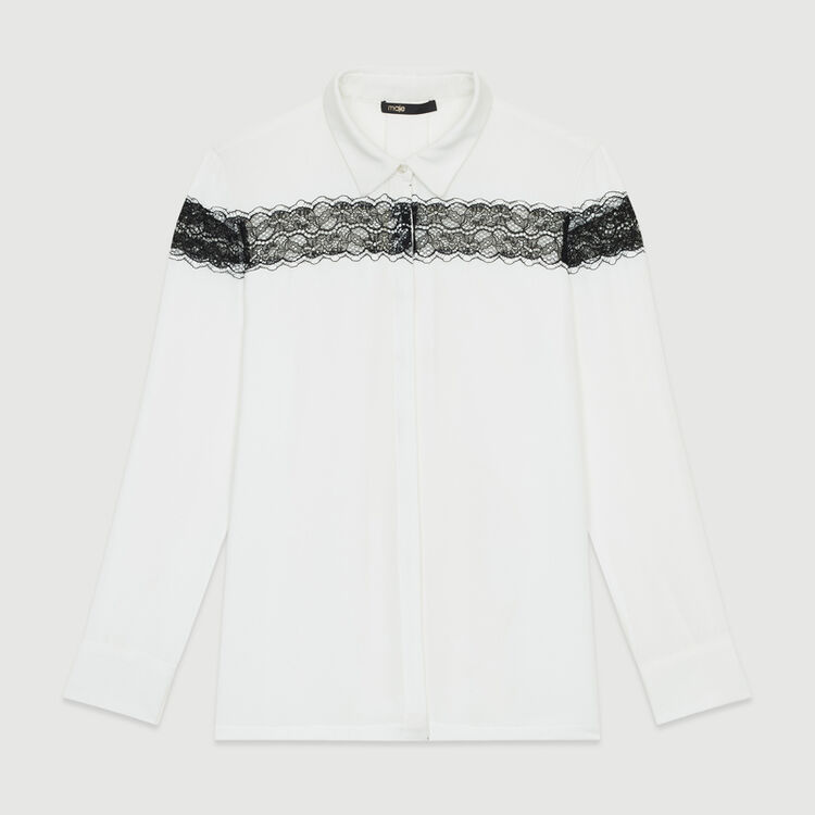 Blouse with lace : New Collection color Ecru