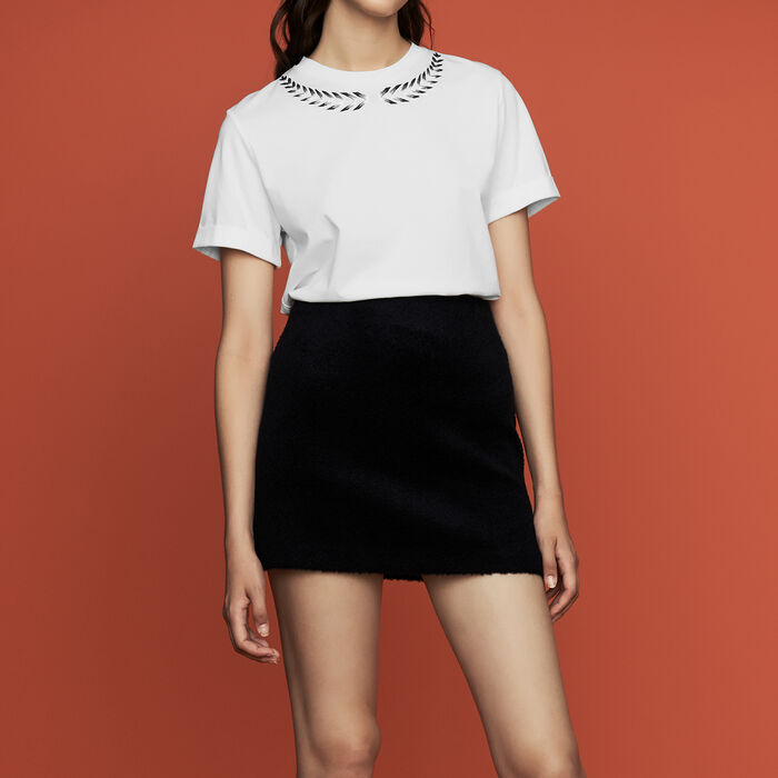 Embroidered T-shirt : New Collection color ECRU
