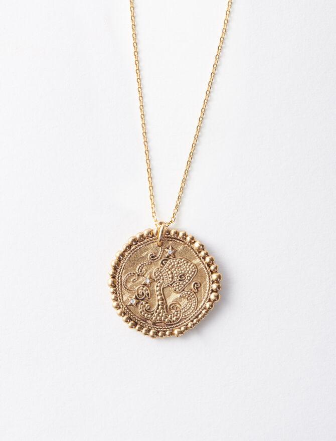 Aquarian zodiac sign necklace -  - MAJE