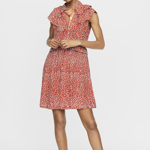 Sleeveless leopard print dress : New Collection color PRINTED