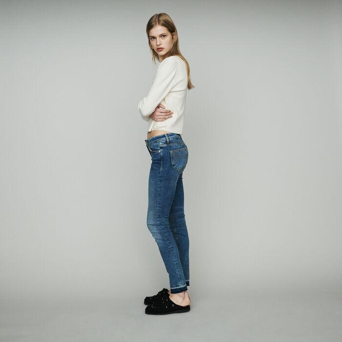 Slim jeans in stretch cotton : Jeans color Denim
