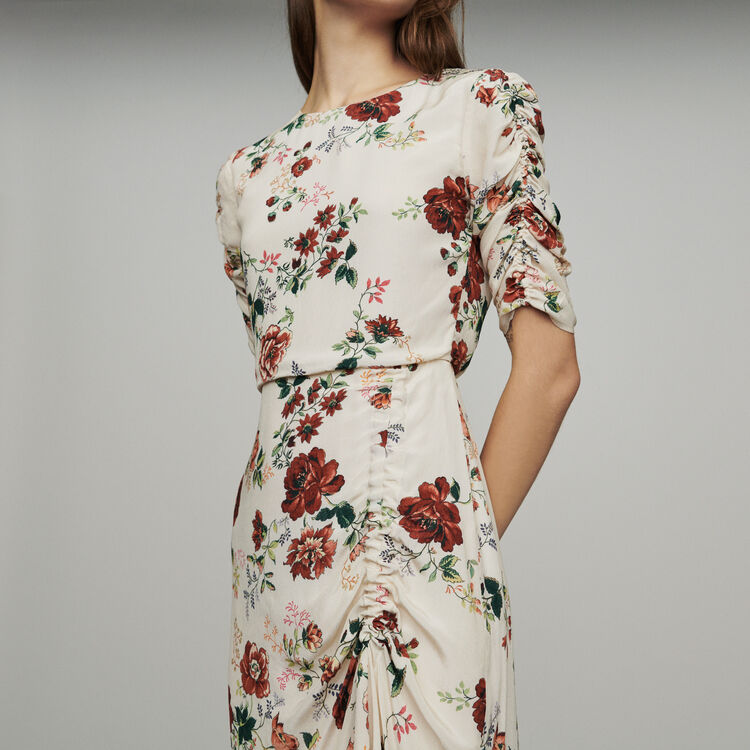 Long dress with floral print : New in : Summer Collection color Print