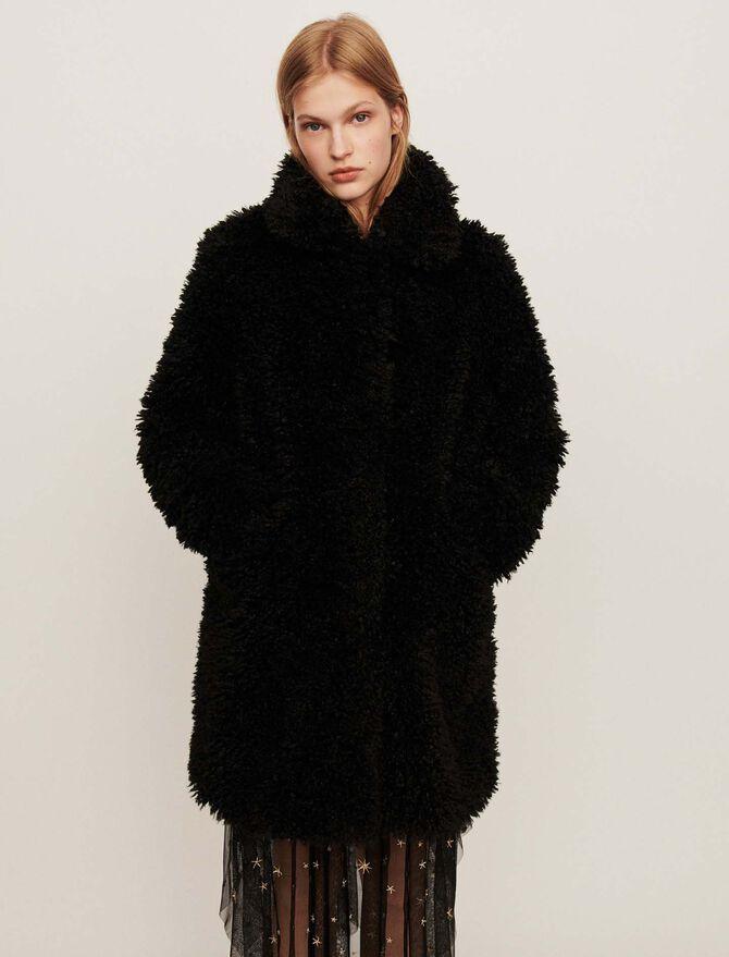 Faux fur coat - -40% - MAJE