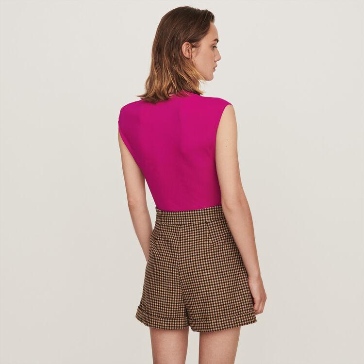 Stretch draped bodysuit : T-Shirts color Purple
