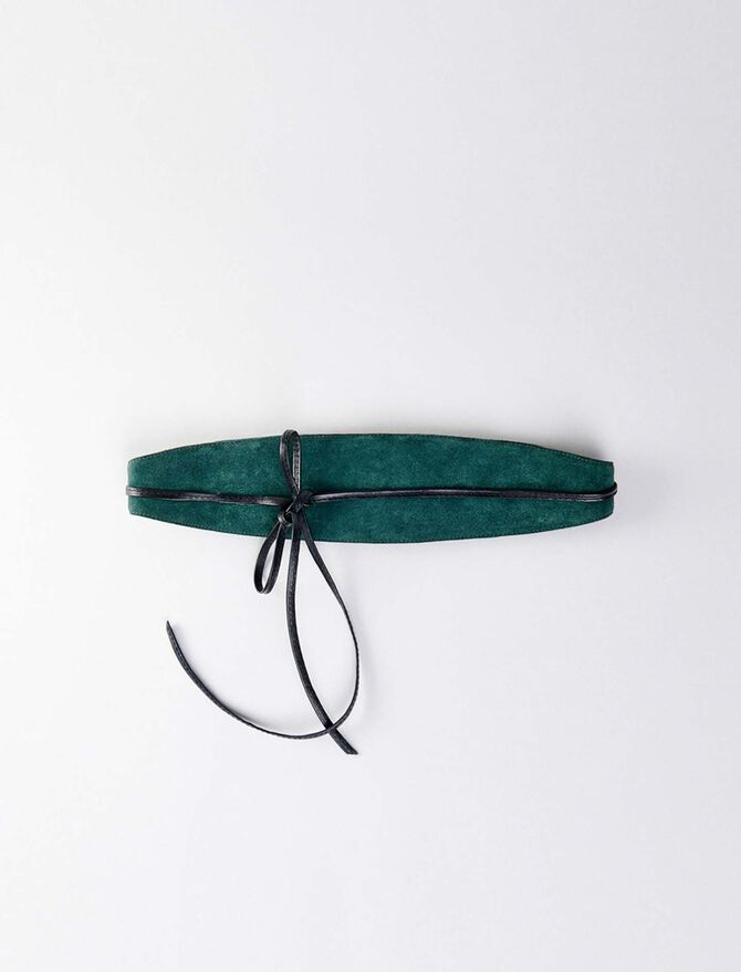 High-waisted suede belt - Belts - MAJE