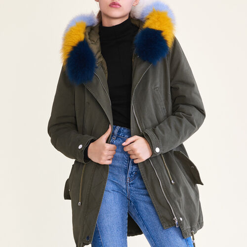 Parka with removable lining - Coats - MAJE