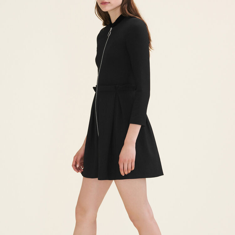 Zipped dress : Ready to wear color Black 210
