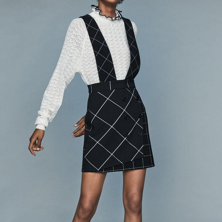 Wide strap skirt : Skirts & Shorts color CARREAUX
