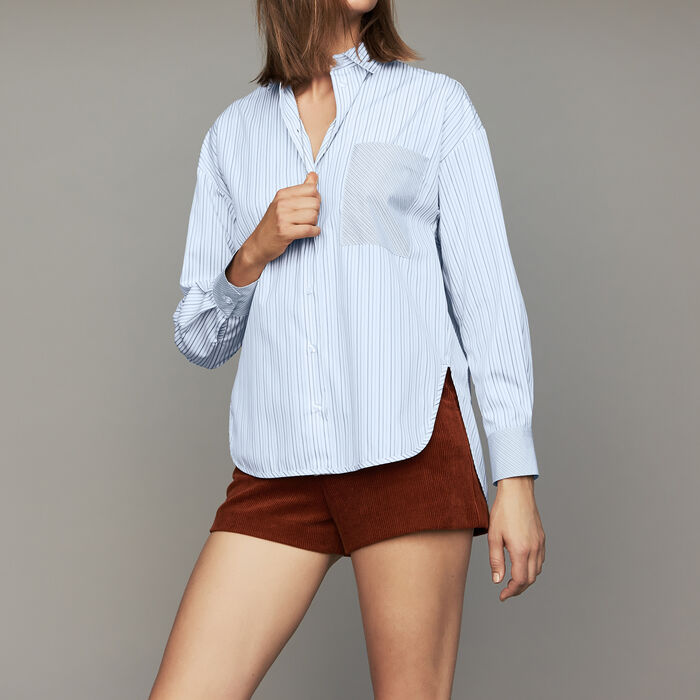 d0914777fe CLEANE Cotton striped shirt - null - Maje.com