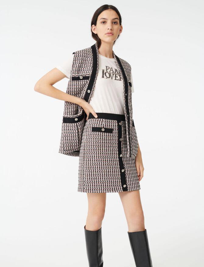 Tweed-style lurex skirt -  - MAJE