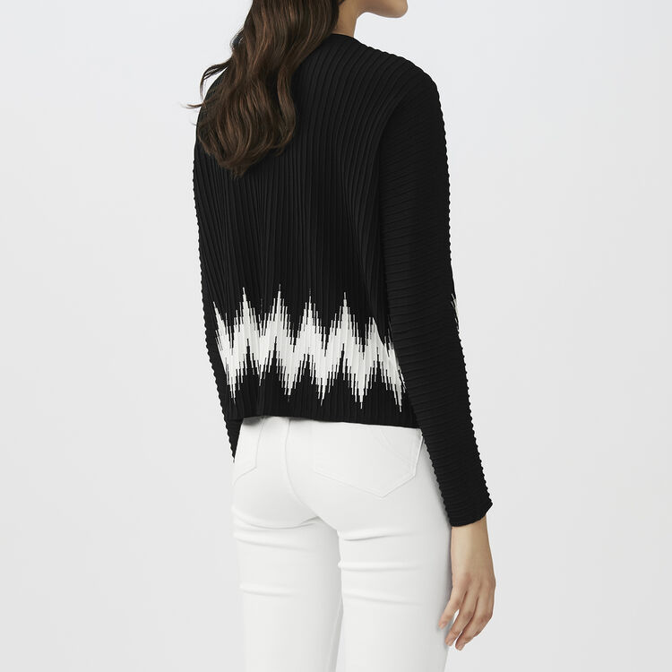 Novelty knit sweater : Knitwear color Black 210