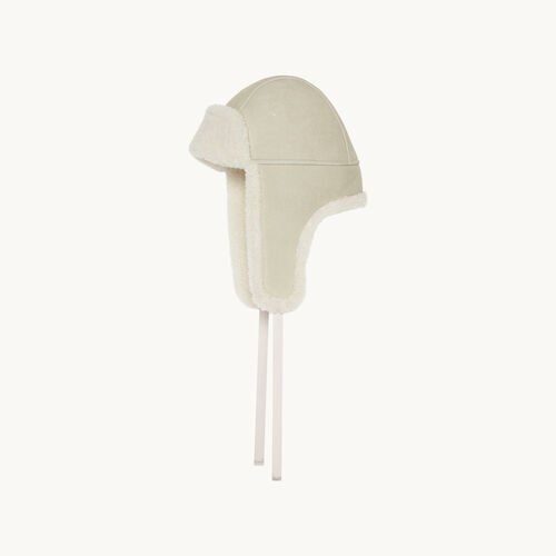 Sheepskin hat : Accessories color Ecru