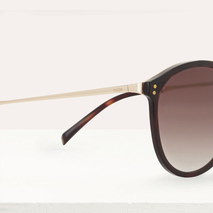 Sunglasses in acetate and metal : Eyewear color Ecaille