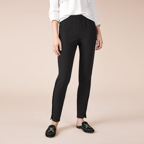 765da982d230 Crêpe trousers with press studs
