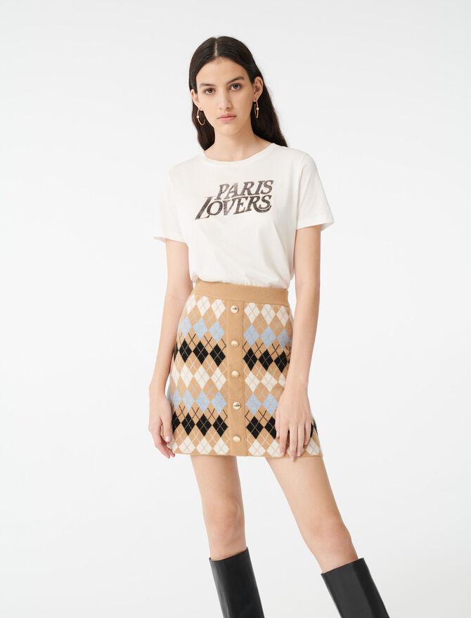 Buttoned jacquard skirt -  - MAJE