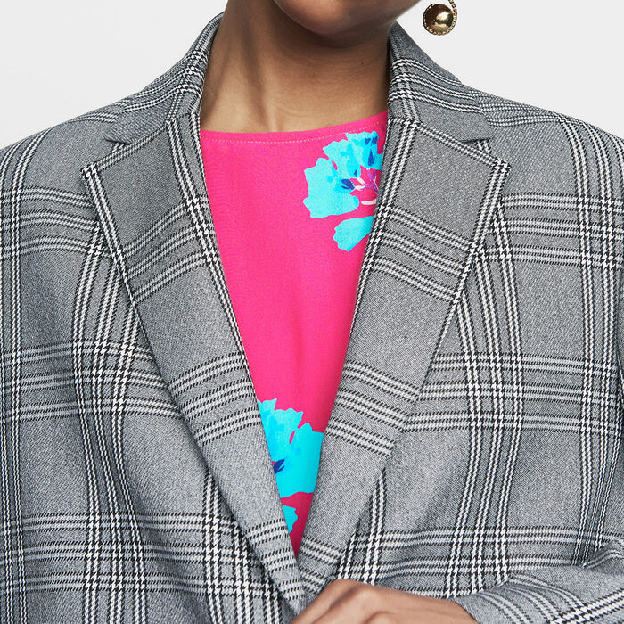 Suit jacket : Blazers color CARREAUX