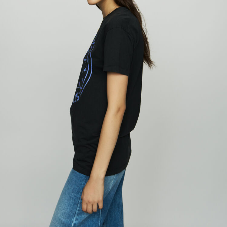 Cotton printed T-shirt : T-Shirts color Black 210
