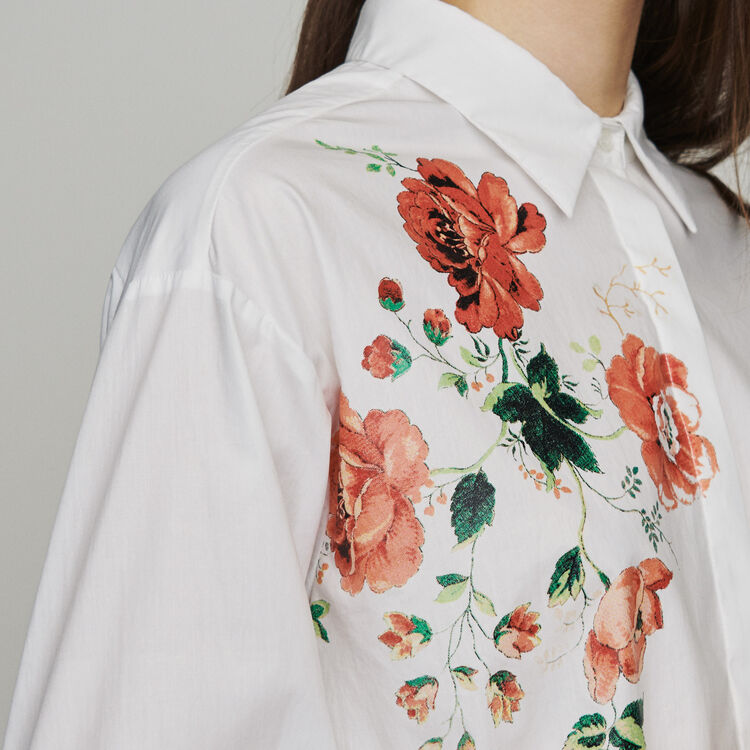 Floral print shirt : Shirts color WHITE