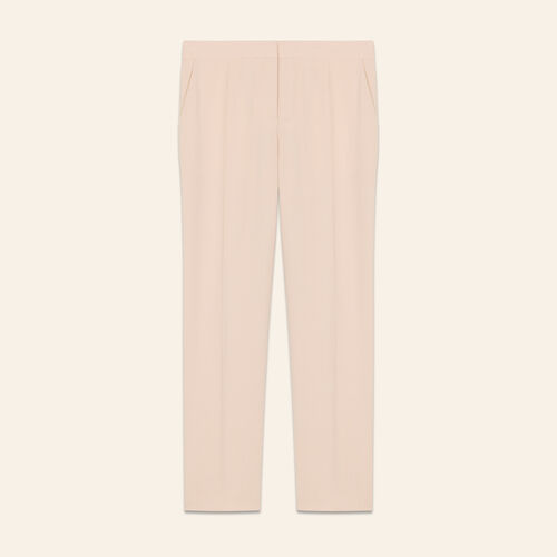 Straight suit pants : Trousers color Pink