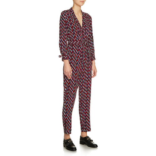 Printed trouser suit : Trousers & Jeans color PRINTED