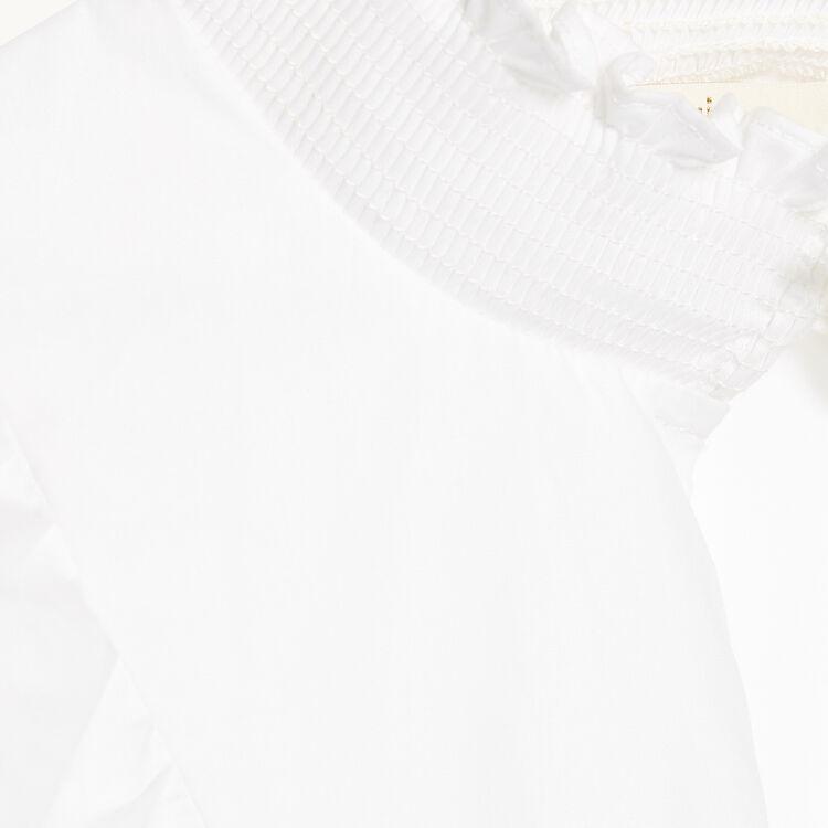 Cotton poplin blouse : Tops color Ecru