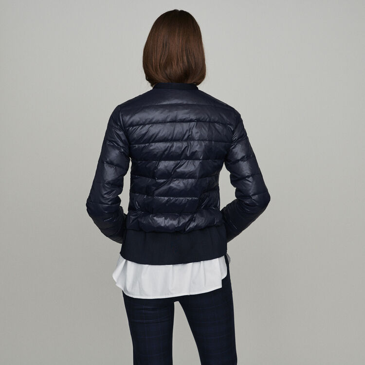 Lightweight down jacket with basque : New in : Summer Collection color Navy