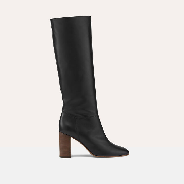Smooth leather boots : Accessoires color Black 210
