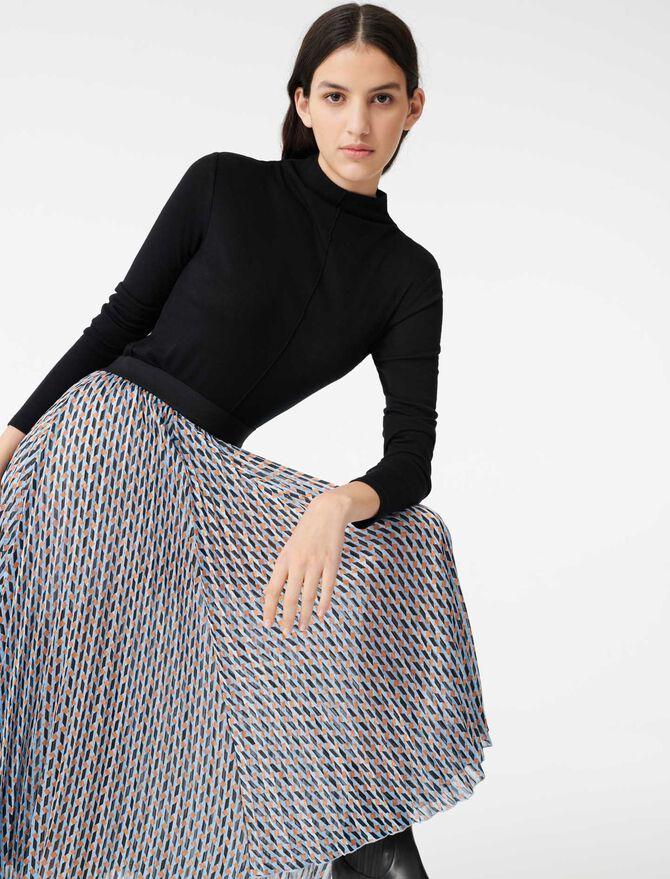 Lurex jacquard print skirt -  - MAJE