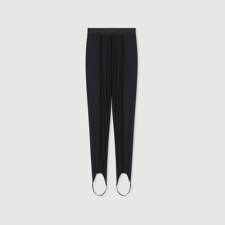 Stretch stirrup pants : Winter collection color Black