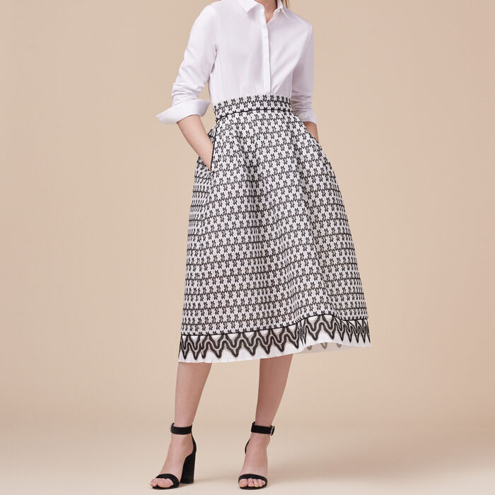 Lace midi skirt - See All - MAJE