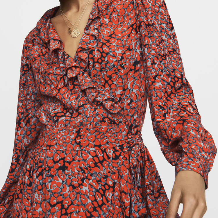 Leopard wrap dress : New Collection color PRINTED