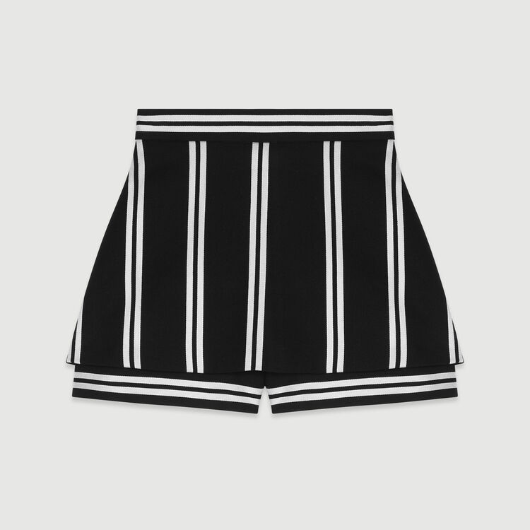 Trompe-l'oeil striped shorts : Skirts & Shorts color Stripe