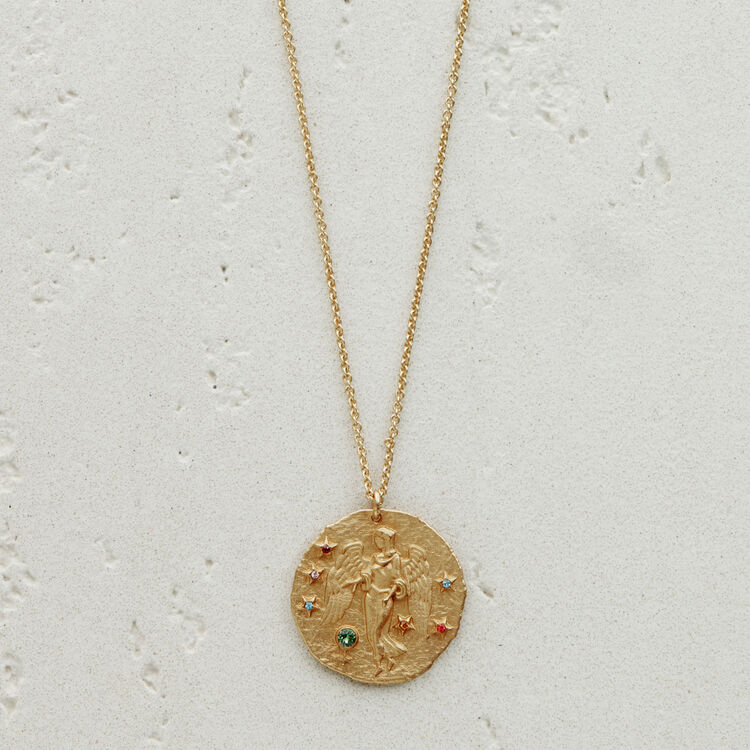 Virgo zodiac sign necklace : The Essentials color GOLD
