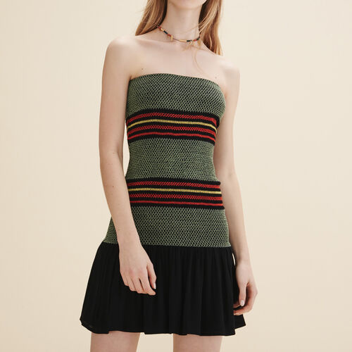 Strapless dress : Dresses color Two-Tone