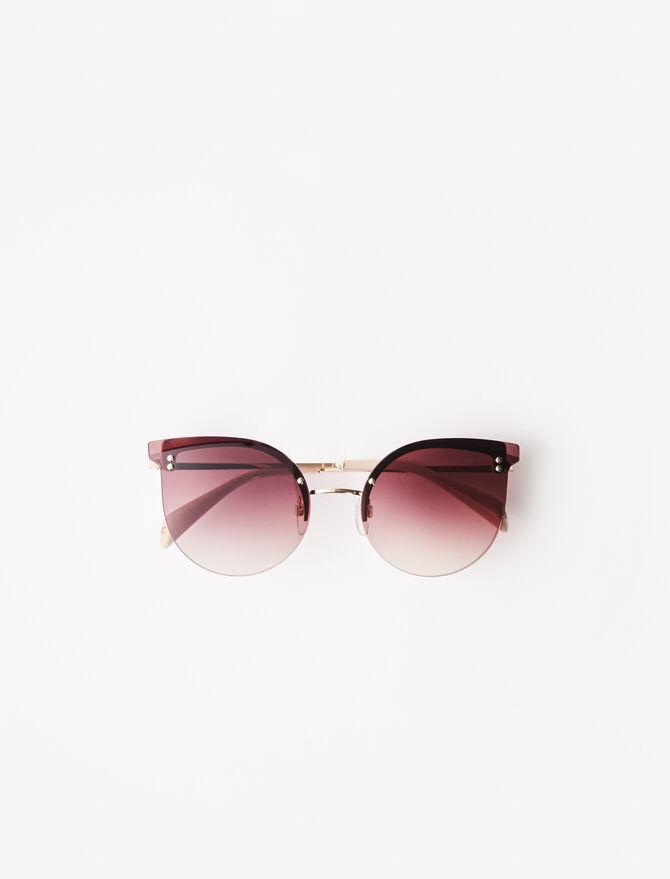 Acetate cat eye sunglasses -  - MAJE