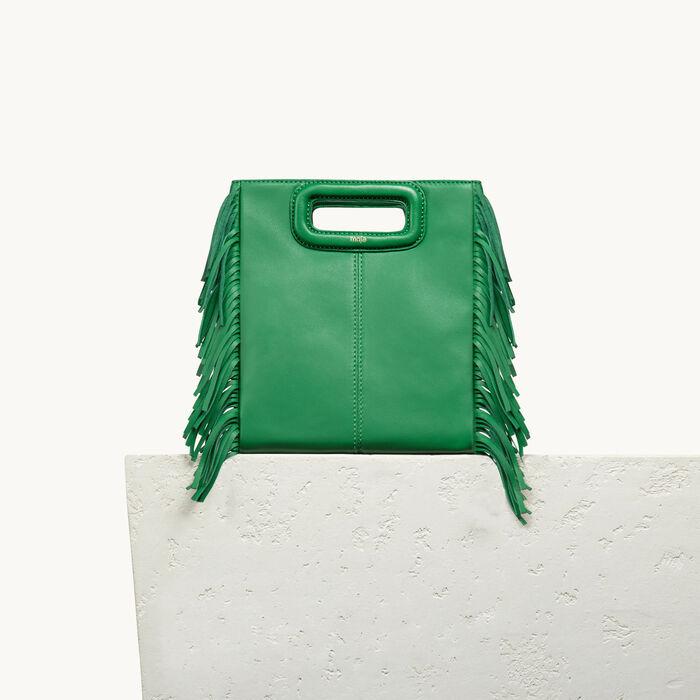 Lambskin M bag - LEATHER - MAJE