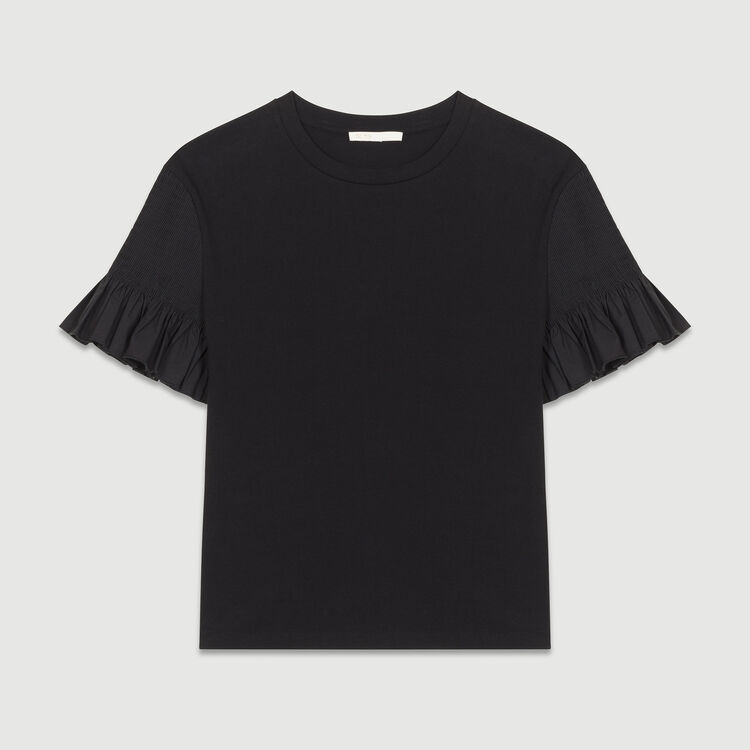 T-shirt with sleeves : Tops color Black 210