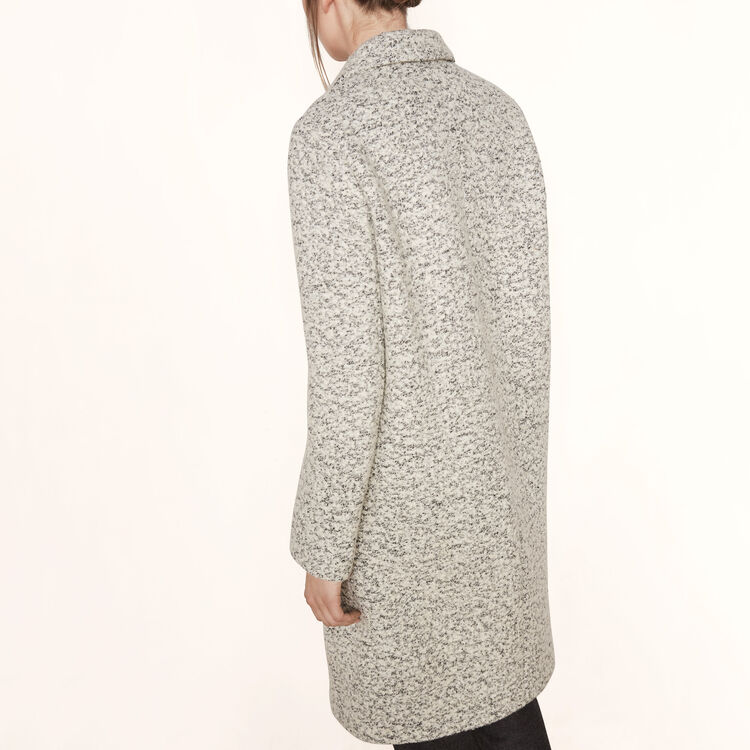 Long bouclé coat : Coats color China Grey