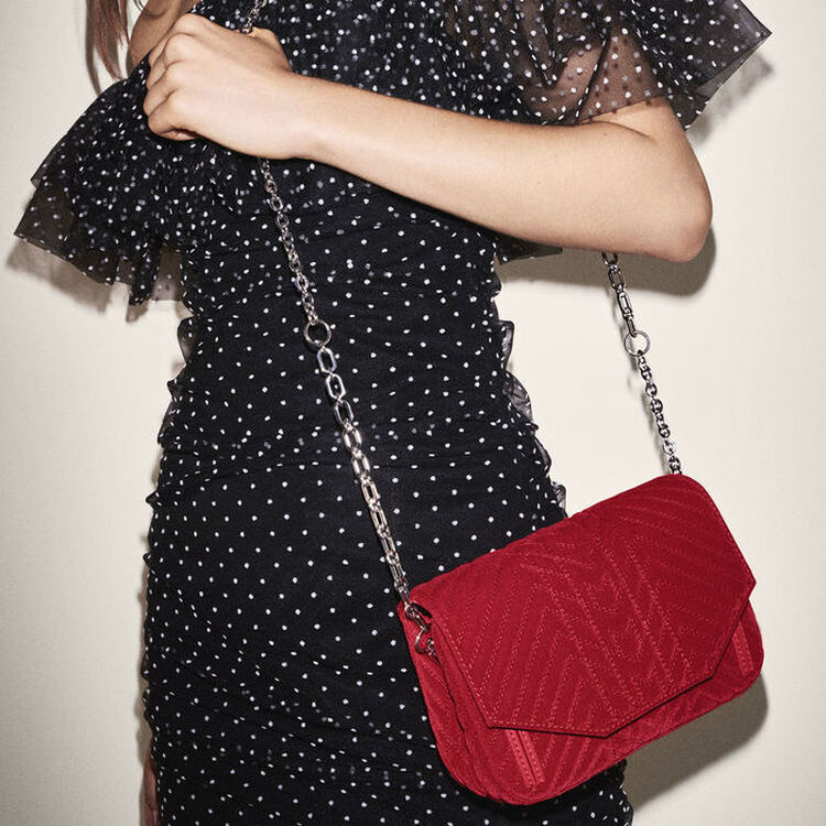 Silver detachable chain for handbag : Straps color Silver