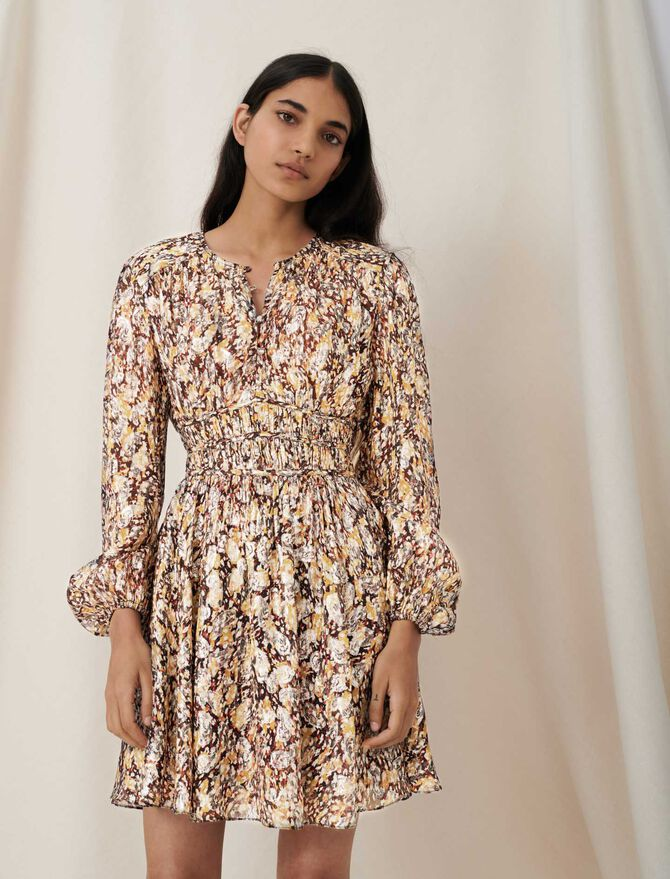 Lurex jacquard dress with animal print - Dresses - MAJE