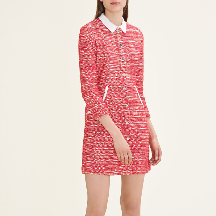 Jacquard dress : Dresses color Red
