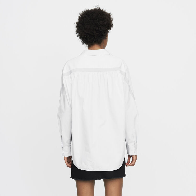 Oversized shirt with grosgrain : Shirts color Blue Sky