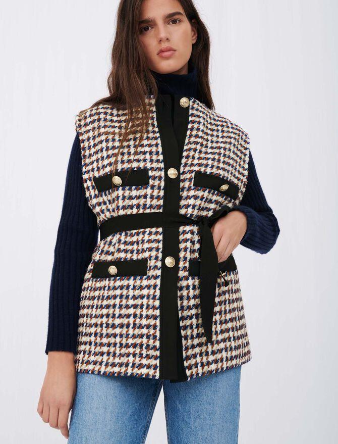 Tweed-style cardigan-inspired jacket - Knitwear - MAJE